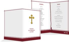 Menü zur Konfirmation Gebetbuch - Rot (K38)