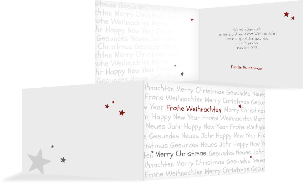 weihnachts gru karte privat schrift kartenmanufaktur. Black Bedroom Furniture Sets. Home Design Ideas