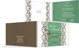 Dankeskarte zur Hochzeit Vintage Schleife - Türkis (K19)