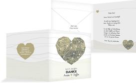 Dankeskarte zur Hochzeit Sternenbild - Braun (K24)