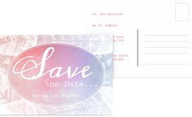 Hochzeit Save the Date Federleicht - Pink (K25)