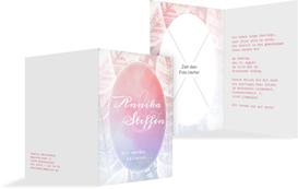Hochzeit Einladung Federleicht - Pink (K20)