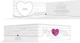 Hochzeit Dankeskarte Mr&Mrs - Lila (K33)