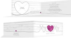 Hochzeit Dankeskarte Mr&Mr - Lila (K33)