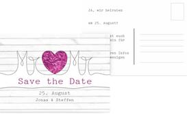 Save the Date Karte zur Hochzeit Mr&Mr - Lila (K25)