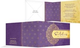 Einladung zur Hochzeit Mumbai - Lila (K19)
