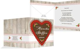 Dankeskarte zur Hochzeit München - Rot (K24)