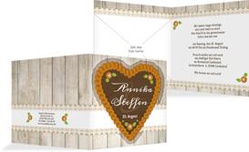 Einladungskarte zur Hochzeit München - Gelb (K24)