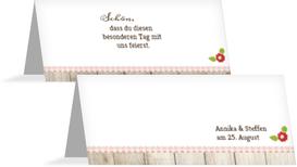 Tischkarte zur Hochzeit München - Rot (K32)