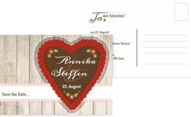 Save the Date Karte zur Hochzeit München - Rot (K25)