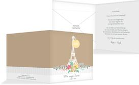 Danksagung zur Hochzeit Paris - Braun (K24)
