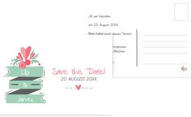 Hochzeit Save the Date Du & Ich - Weiß (K25)
