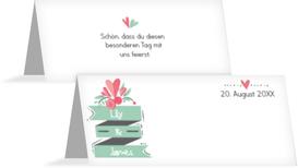 Hochzeit Tischkarte Du & Ich - Weiß (K32)