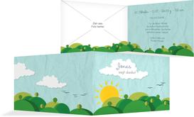 Geburt Dankeskarte Sommerlandschaft - Türkis (K19)