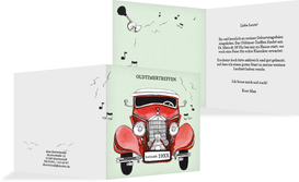 Einladung Oldtimertreffen - Rot (K24)