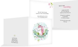 Geburtstagseinladung Einhorn - Weiß (K24)