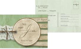 Antwortkarte Vintage Lace - Grün (K25)