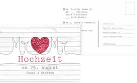 Antwortarte zur Hochzeit Mr&Mr - Rot (K25)