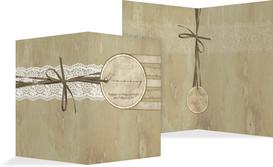 Kirchenheft Umschlag Vintage Lace - Braun (K38)
