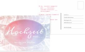 Hochzeit Antwortkarte Federleicht - Pink (K25)