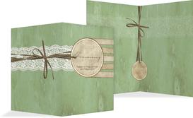 Kirchenheft Umschlag Vintage Lace - Grün (K38)