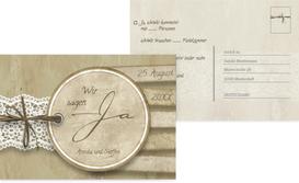 Antwortkarte Vintage Lace - Braun (K25)