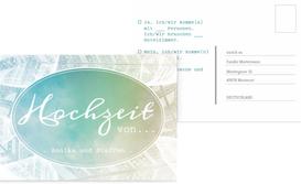 Hochzeit Antwortkarte Federleicht - Türkis (K25)