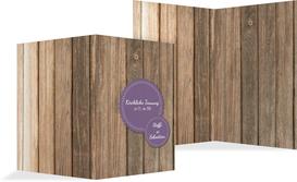 Kirchenheft Umschlag zur Hochzeit Vintage Holz COPY - Lila (K38)