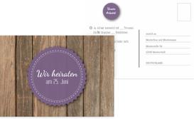 Antwortkarte Vintage Holz - Lila (K25)
