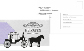 Antwortkarte Kutsche - Lila (K25)