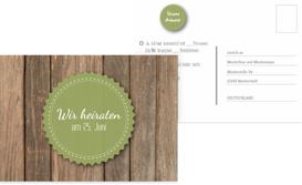 Antwortkarte Vintage Holz - Grün (K25)