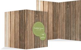 Kirchenheft Umschlag zur Hochzeit Vintage Holz - Grün (K38)