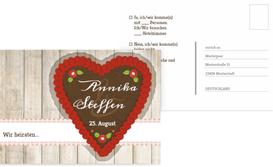 Antwortkarte zur Hochzeit München - Rot (K25)