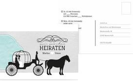 Antwortkarte Kutsche - Türkis (K25)