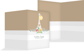 Kirchenheft Umschlag zur Hochzeit Paris - Braun (K38)