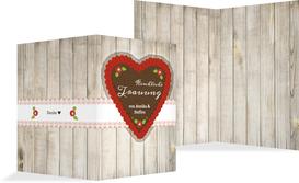 Kirchenheft Umschlag zur Hochzeit München - Rot (K38)