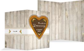 Kirchenheft Umschlag zur Hochzeit München - Gelb (K38)
