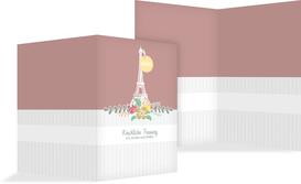 Kirchenheft Umschlag zur Hochzeit Paris - Rot (K38)