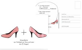 Antwortkarte High Heels - Rot (K25)