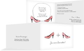 Hochzeitseinladung High Heels - Rot (K19)