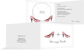 Hochzeit Danksagung High Heels - Rot (K19)