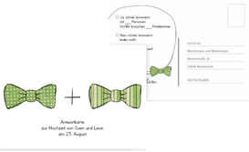 Antwortkarte Fliegen - Grün (K25)