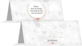 Tischkarte zur Hochzeit Zarte Ranke - Braun (K32)
