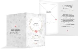 Hochzeit Dankeskarte Zarte Ranke - Braun (K20)