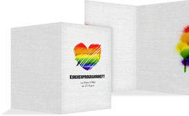 Kircheheft Umschlag Regenbogenliebe - Weiß (K38)