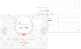 Save the Date Karte zur Hochzeit zarte Ranke - Braun (K25)