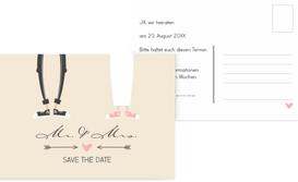 Save the Date Karte zur Hochzeit Pärchen - Braun (K25)
