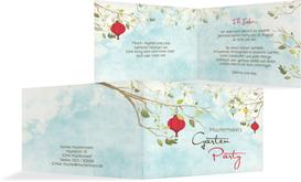 Einladung zum Sommerfest Garten Lampions - Rot (K19)
