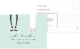 Save the Date Karte zur Hochzeit Pärchen - Grün (K25)