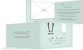 Einladungskarte zur Hochzeit Pärchen - Grün (K19)